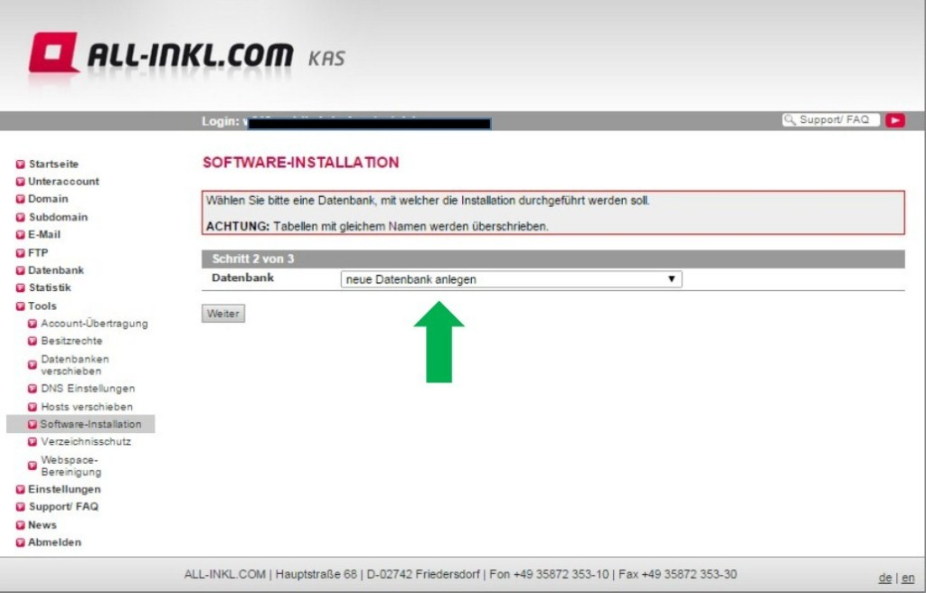Wordpress Installation ALL-INKL.com 4