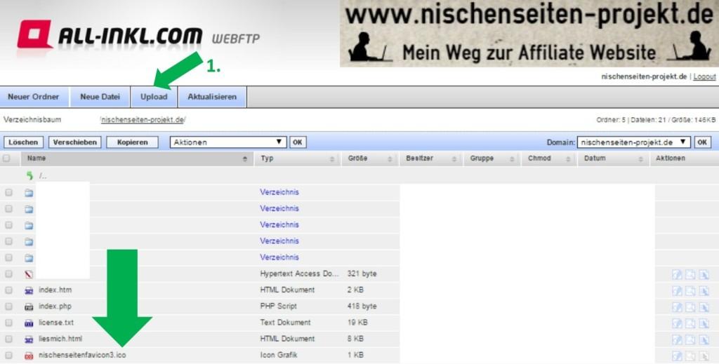 Favicon erstellen und in Website einbinden. Nischenseiten Projekt. Mein Weg zur Affiliate Website.